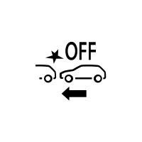 (Según el vehículo) Indicador de fallo o no disponibilidad del frenado activo de emergencia