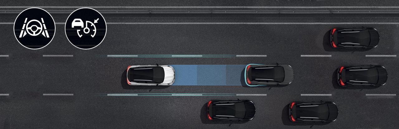 Complemento en autopista y atasco