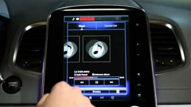 Descripción de los mandos de la pantalla multifunción